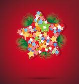 Kerstmis ster en Nieuwjaar achtergrond — Stockvector