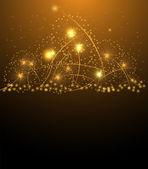 Saludo de navidad estrellas y feliz año nuevo — Vector de stock