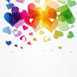 Heart abstract rainbow background Valentine day — Stock Vector #11936496