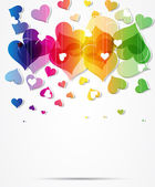 Heart abstract rainbow background Valentine day — Stock Vector