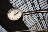 Old clock at a train station — Stock Photo