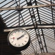 Old clock at a train station - Stock Photo