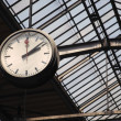 Stock Photo: Old clock at train station