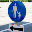 Stock Photo: Road safety sign