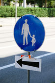 Road safety sign — Stock Photo