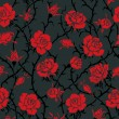Stock Vector: Vector. Seamless roses pattern