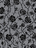 Vector. Seamless roses pattern — Vector de stock