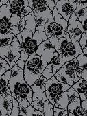 Vektor. sömlös rosor mönster — Stockvektor