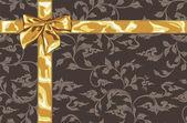 Altın hediye yay — Stok Vektör