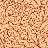 Seamless brain convolutions. — Stock Vector