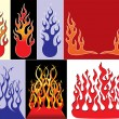 Fire logos - Stock Vector