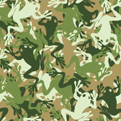 Seamless frog camouflage pattern — Stock Vector