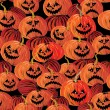 Royalty-Free Stock Vector Image: Halloween seamless background with pumpkin