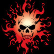 Evil burning Halloween symbol. — Stock Vector