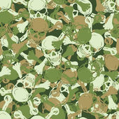 Vector. Seamless skull camouflage pattern — Stock Vector
