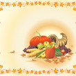 Autumn Thanksgiving Template — Stok Vektör