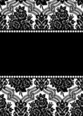 ダマスク織のベクトルのフレーム — ストックベクタ