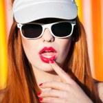 retrato de verão funky — Foto Stock