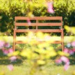 Bench in the garden — Stock Photo