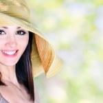 Beautiful smiling girl outdoor — Stock Photo #10957183