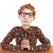 Serious nerdy guy — Stock Photo
