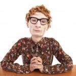 Serious nerdy guy — Stock Photo