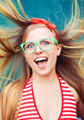 Positive energy portrait — Foto Stock