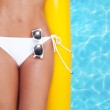 Woman relaxing in a pool — Stock Photo #11740406