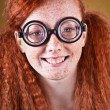Cheerful red haired girl — Stock Photo
