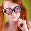 Cheerful red haired girl — Stock Photo #11740742