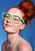 Funky portrait of a beautiful woman — Stock Photo