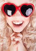 Funky retrato de una bella mujer — Foto de Stock