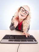 On-line chatting — Stock Photo