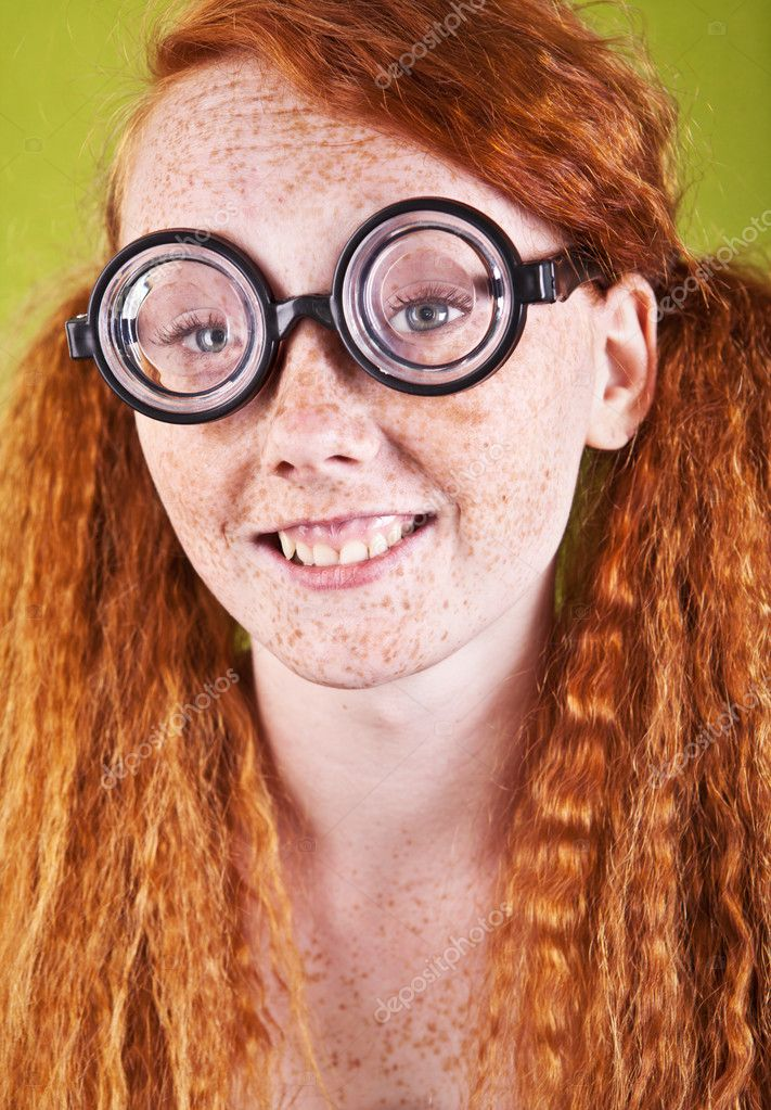 Cheerful red haired girl — Stock Photo #11740728