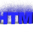 HTML   isolated — Stock Photo