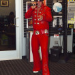 Elvis impersonator singing at a new store opening, Portland OR. — Stock Photo