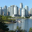 Vancouver BC skyline at False creek. — Stock Photo