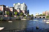 Reno architecture and river. — Stock Photo