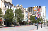 Downtown street and casino, Reno NV. — Stock Photo