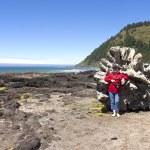 Visiting Cape Perpetua, Oregon coast. — Stock Photo #11333904