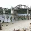 Stock Photo: Bridge crossings, Florence OR.