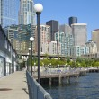 Seattle waterfront promenade. — Stock Photo