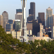 Seattle Space needle and skyline. — Stock Photo