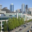 The Alaskan way Seattle Washington. — Foto Stock