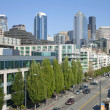 The Alaskan way Seattle Washington. — Stock fotografie