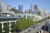 The Alaskan way Seattle Washington. — Stock Photo