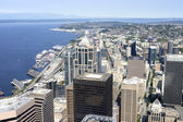 Seattle from above, northwest view. — Stock Photo