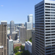 Stock Photo: Between high rises, Seattle WA.