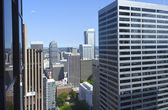Between high rises, Seattle WA. — Stock Photo