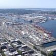 Stockfoto: Port of Seattle Washington state.